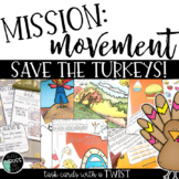 Thanksgiving Read the Room, Thanksgiving Centers, Mission Movement , EDITABLE!