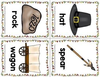 Thanksgiving Read the Room for Initial Sounds