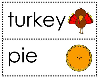 Thanksgiving Readers with Vocabulary Cards