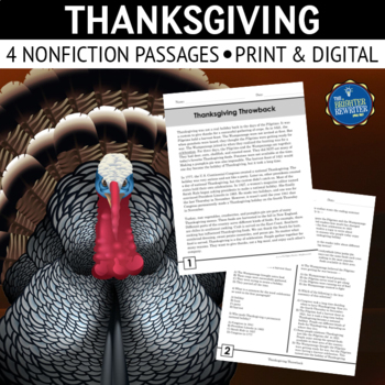 Thanksgiving Nonfiction Reading Passages