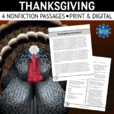 Thanksgiving Nonfiction Reading Passages