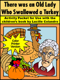 Thanksgiving Reading Activities: Old Lady Who Swallowed a Turkey Activity -Color