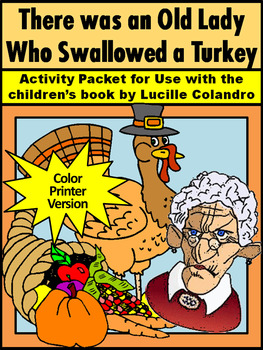 Thanksgiving Reading Activities: Old Lady Who Swallowed a