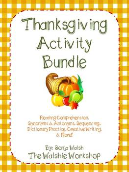 Thanksgiving Reading Activities/Centers - Grades 2 & 3 - T