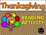 Thanksgiving Reading Activity