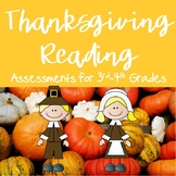 Thanksgiving Printables ELA CC Aligned {3rd and 4th Grade}