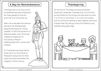 Thanksgiving Reading Book