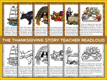 Thanksgiving Reading Center | Comprehension | Scrambled Sentences | History