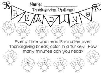 Thanksgiving Reading Challenge!