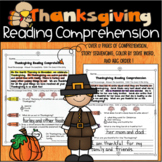 Thanksgiving Reading Comprehension, Sequencing Stories and