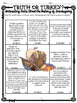 Thanksgiving Reading Comprehension Activity & Higher Level