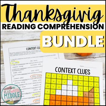 Thanksgiving Reading Comprehension Bundle