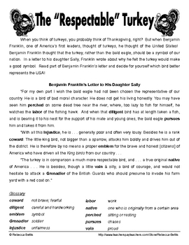 free printable thanksgiving reading comprehension worksheets