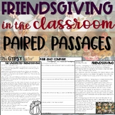 Thanksgiving Reading Comprehension Paired Passages - Frien