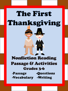 Thanksgiving Reading Passage