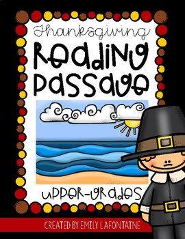 Thanksgiving Reading Comprehension Passage