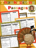 Thanksgiving Reading Comprehension Passages 1st Grade