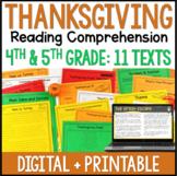 Thanksgiving Reading Comprehension - Digital Thanksgiving Reading Activities