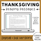 Thanksgiving Reading Comprehension Passages and Questions   Google Drive