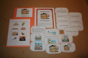 Thanksgiving Reading Comprehension Set - 2 Games and Interactive Book