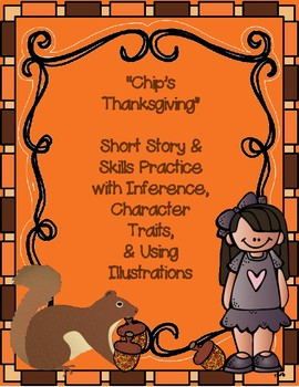 Thanksgiving Reading Comprehension with Character Traits & Inference