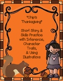 Thanksgiving Reading Comprehension with Character Traits &