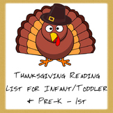 Thanksgiving Reading Lists