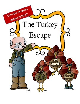 Thanksgiving Reading and Math Activity: Escape Room