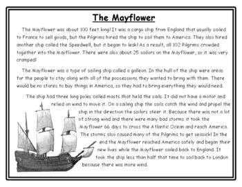 Thanksgiving Writing Mayflower Thanksgiving Activities Nonfiction Writing
