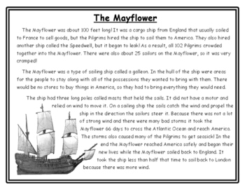 Thanksgiving Writing Mayflower Thanksgiving Activities Non