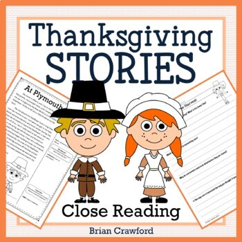 Thanksgiving Close Reading Passages - Stories and Writing Activities