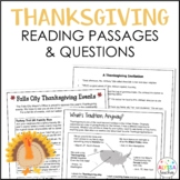 Thanksgiving Reading Passages  (SOL 4.4, 4.5, 4.6)