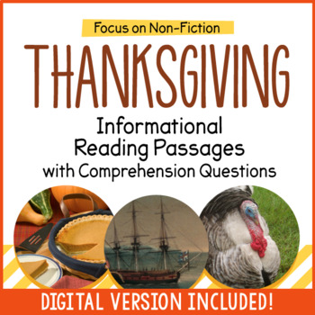Thanksgiving Reading Passages