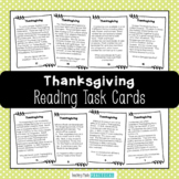 Thanksgiving Reading Comprehension Task Cards - Nonfiction Thanksgiving Text