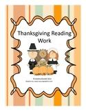 Thanksgiving Reading Work - First Grade