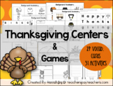 Thanksgiving Reading & Writing Center Activities & Games!