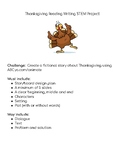 Thanksgiving Reading Writing STEM Project!