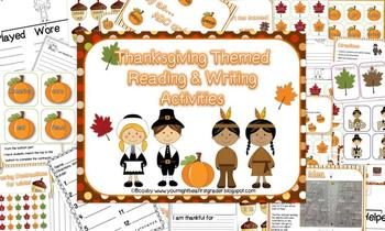 Thanksgiving Reading, Writing, and Math Combo Pack