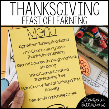 Thanksgiving Reading and Math Activities | A Feast of Learning
