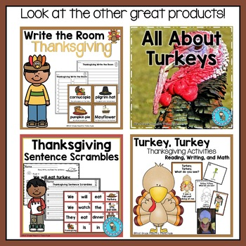 Thanksgiving Reading and Math Games