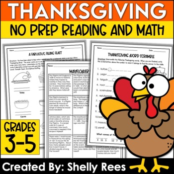 Thanksgiving Math and Reading Packet
