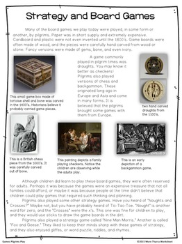Thanksgiving Reading and Research: Games Pilgrims Play