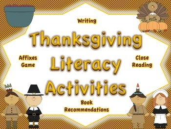 Thanksgiving Reading and Writing Activities