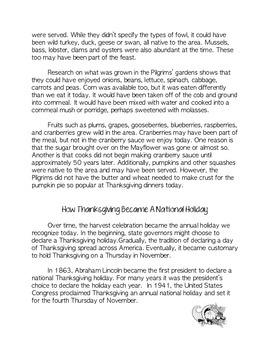 Thanksgiving Reading and Writing Bundle
