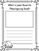 Thanksgiving Reading and Writing Packet