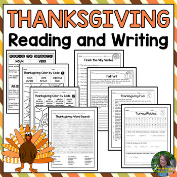 Thanksgiving Reading and Writing Packet (No Prep Activities)