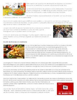 Thanksgiving Reading in Spanish | Lectura Día de Acción de Gracias