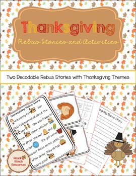 Thanksgiving Rebus Stories and Writing Activity