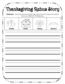 Thanksgiving Rebus Writing