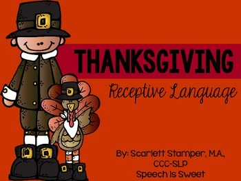 Thanksgiving Receptive Language